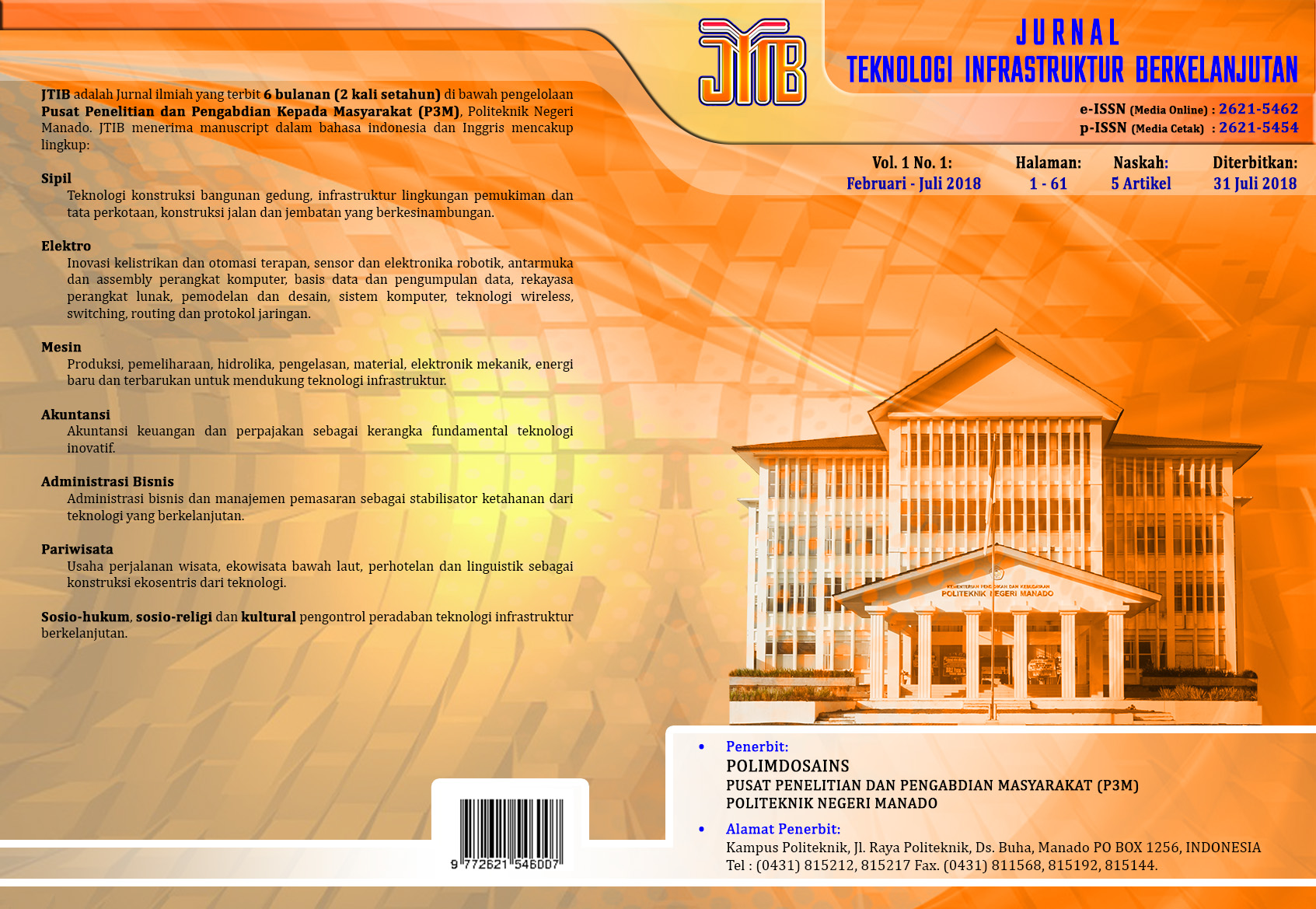 Sampul JTIB Vol. 1 No. 1